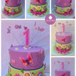 two-tier-purple-green-butterflies-fondant-collage